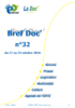 Bref Doc' n°32 du 17 au 23 octobre 2016 - application/pdf