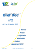 Bref Doc' n°2 du 9 au 15 janvier 2017 - application/pdf